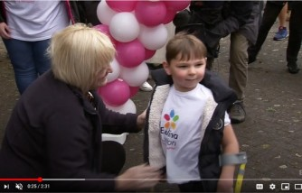Five-year-old boy walked with prosthetic leg, raised $1M for hospital that saved him