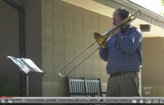 Man drove 1,400 miles to play trombone to help brother heal