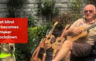 Blind army veteran grandpa took up a new hobby: Creating ukuleles from scratch