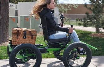Man invents affordable electric wheelchair for wife with disability to explore outdoors