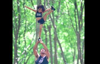 Dad and Daughter Duo Goes Viral in a Cheerleading Video That Went Wrong [Father Teaches Daughter Patiently]