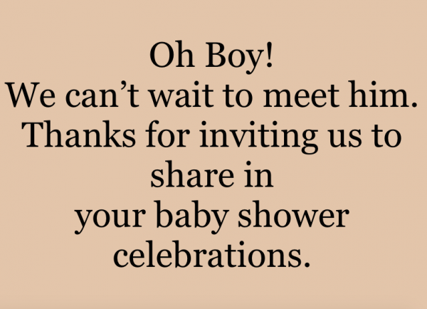 Oh Boy! We can't wait to meet him. Thanks for inviting us to share in your baby shower celebrations.