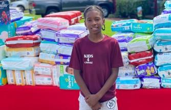 virginia boy, donates 22,000 diapers, single moms