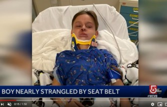 massachusetts mom, warns other parents, son got strangled by seatbelt