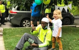 3-Year-Old Celebrates Birthday With His Superheroes Their Neighborhood Sanitation Crew