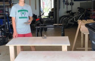 Teen Builds More Than 100 Desks for Online Schooling of Children in Need, Free of Charge