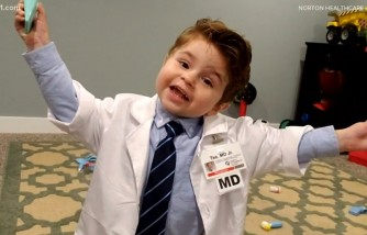 Toddler Dresses up as His Doctor to Honor Him for Saving His Life