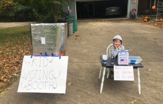 6-Year-Old Has an Adorable Way of Making Sure Kids Could Have a Say in Election 2020