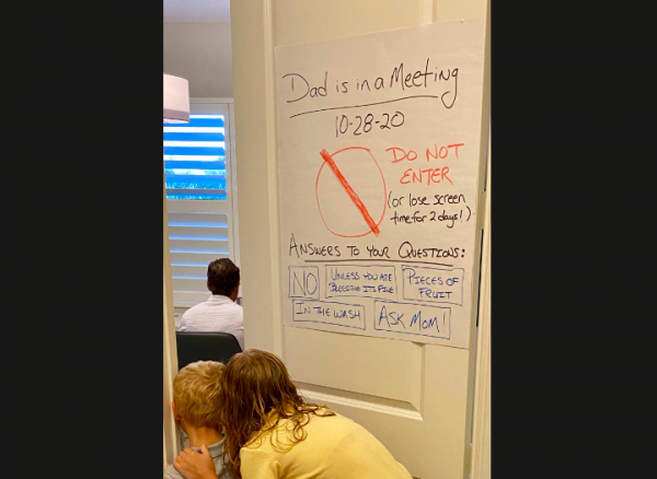 Florida Dad Reminds Kids About His Work-from-Home Setup Through a Funny Poster