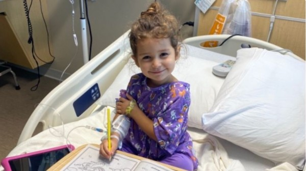 4-year-old girl with aggressive stage 4 kidney cancer, bravely battles her disease, toddler with stage 4 kidney cancer