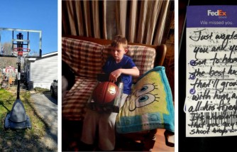 Parent Herald - FedEx Driver Gives Basketball Hoop to Young Boy Out of Kindness