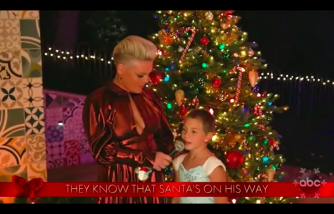 Pink and daughter duet at the Disney Family Singalong special