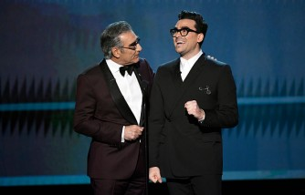 Eugene Levy and Dan Levy receive award