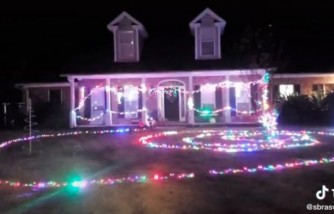 10-year-old boy puts up christmas lights for mom, boy surprises mom with christmas lights, boy puts up lights for upset mom