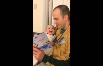 Viral Video: Dad Reads a Book to His Baby in Different Voices