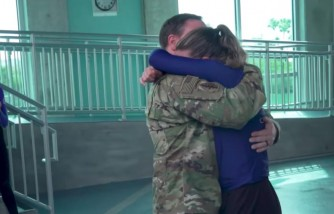 Military Dad Surprises Daughter While at Work in Florida