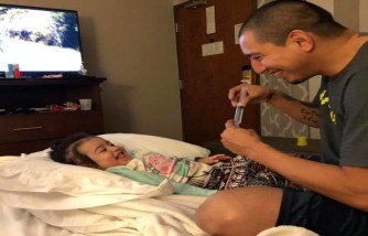 child with heart disease gets medication