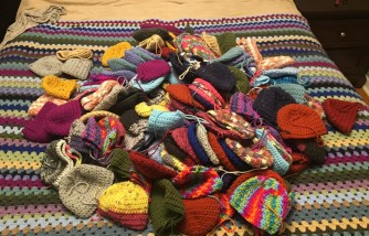 Woman Makes Handmade Hats for Babies to Spread Awareness of Heart Disease