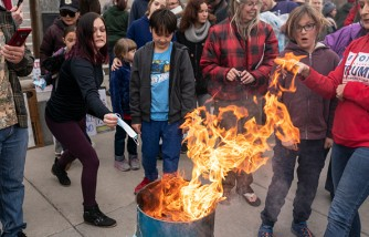 Mask Burning Protest Against COVID-19 Restrictions Held In Idaho
