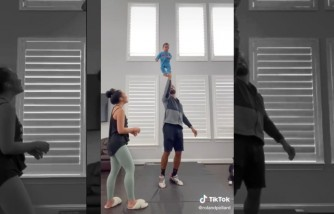 Cheerleading Dad, His Baby and Daughter Go Viral on TikTok