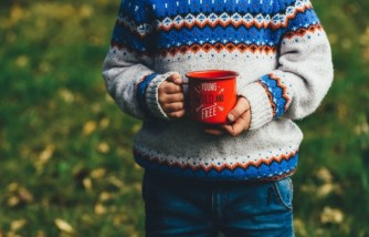 kids drink coffee