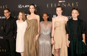Angelina Jolie Proudly Says Her Children Recycled Her Clothes for the 'Eternals' Premiere