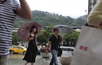Typhoon Matmo Sweeps Through Taipei