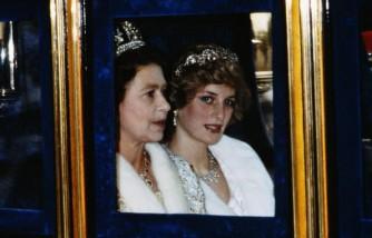 Princess Diana and Queen Elizabeth II