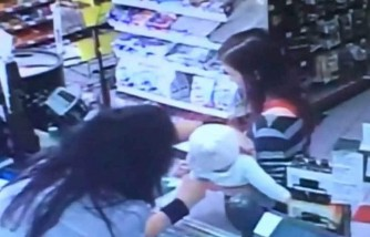 clerk catches the baby