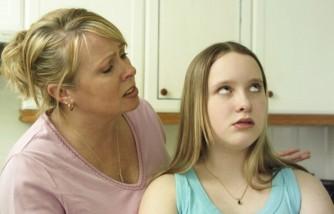 Mother & daughter arguing UK