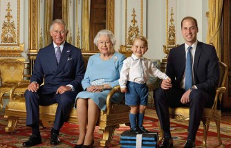 Prince Charles, Prince of Wales, Queen Elizabeth II, Prince George and Prince William