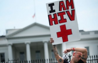 AIDS Activists Stage Large Demonstration March Outside International AIDS Conference In DC