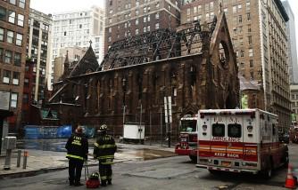Massive Fire Destroys Historic New York City Church