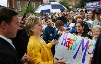 Hillary Clinton Campaigns For Upcoming Primaries