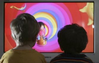 Children Watch Television At Home