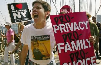 Pro-Choice Protestors March Across The Brooklyn Bridge