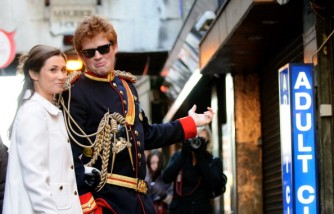 Prince Harry And Pippa Middleton Look-a-likes Stage A Walkabout In Soho To Promote Alison Jackson's New Book 'EXPOSED'