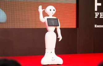 Pepper at Opening Ceremony of the 28th Tokyo International Film Festival