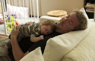 Sleepy dad