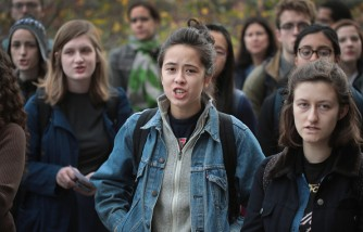 Chicago College Students Hold Walk-Out And Rally To Protest Donald Trump