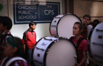 Community Groups Protest Proposed Chicago School Budget Cuts