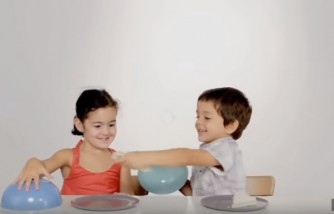 Two kids, one sandwich. Action Against Hunger The Sharing Experiment