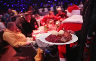 Frank Zander Hosts Charity Dinner For Homeless In Berlin