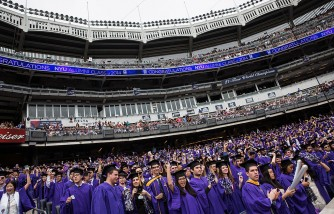 Fed Chair Janet Yellen Gives NYU Commencement Speech At Yankee Stadium