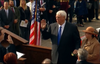 Inauguration of West Virginia Gov. Jim Justice. Jan.16. 2017.