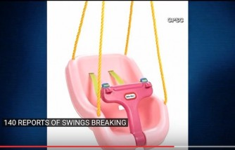 Little Tikes Recalls 540,000 Swings After Injuries
