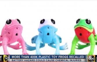 Thousands Of Plastic Toy Frogs Recalled
