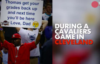 Dad Trolls Son During Cavaliers' Game