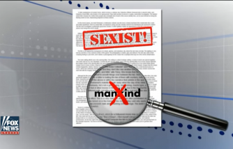 Student's grade goes down for using 'mankind'