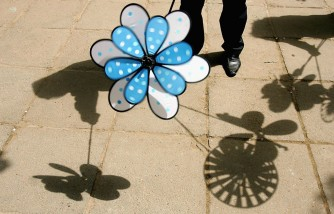 Blue Pinwheels For Child Abuse Prevention Month